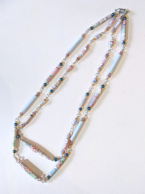 """""""My Kinda Town"""" Double-stranded Map Necklace"""