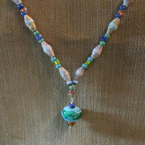 """""""Small World"""" Map Necklace"""