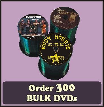 300 BULK DVDs full color discs