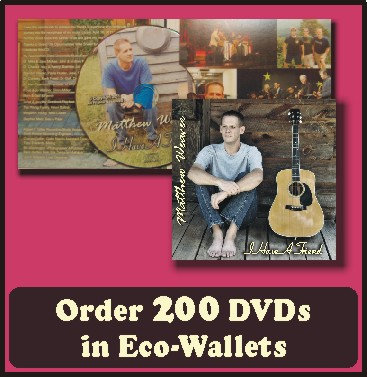 200 Retail Ready DVDs in Eco-Wallets