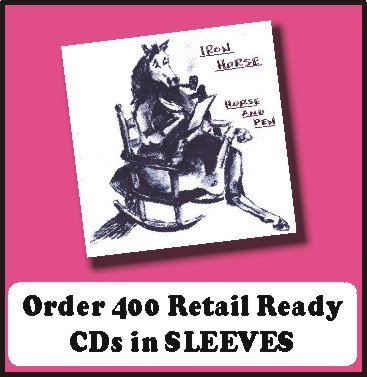 400 Retail Ready CDs in full color SLEEVES
