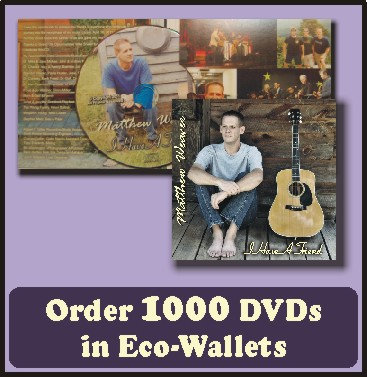 1000 Retail Ready DVDs in Eco-Wallets