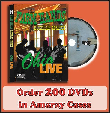 200 DVDs in Amaray Cases Full color discs included