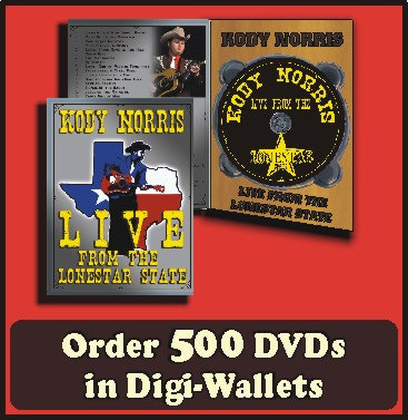 500 Retail Ready DVDs in full color Digi-Wallet