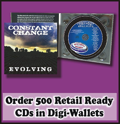 500 Retail Ready CDs in full color DIGI-WALLETS