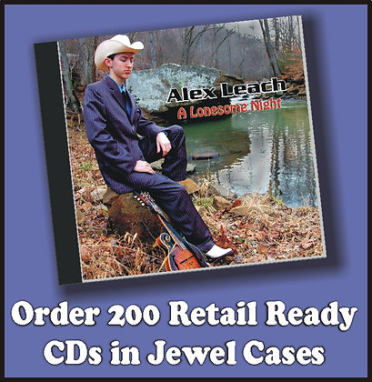 200 Retail Ready CDs in Jewel Cases w/poly wrap