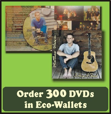 300 Retail Ready DVDs in Eco-Wallets