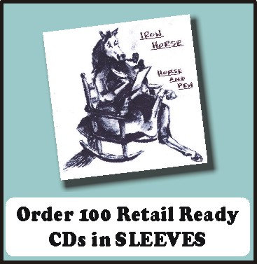 100 Retail Ready CDs in full color SLEEVES