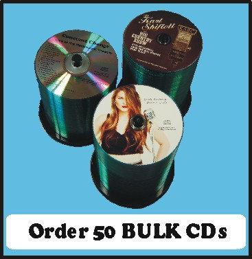 50 BULK CDs  Choose single color or full color
