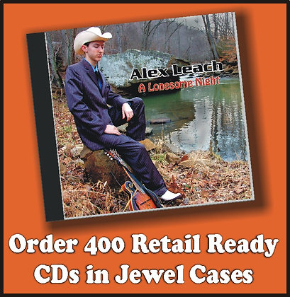 400 Retail Ready CDs in Jewel Cases w/poly wrap