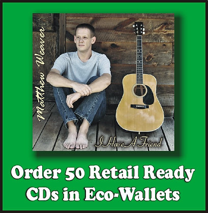 50 Retail Ready CDs in Full Color Eco-Wallets