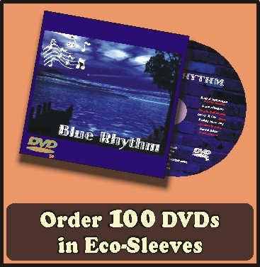 1000 DVDs in full color sleeves with UV