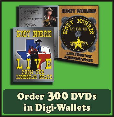300 Retail Ready DVDs in full color Digi-Wallets