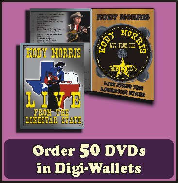 50 Retail Ready DVDs in full color Digi-Wallets