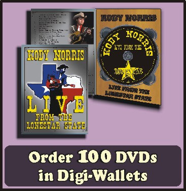 100 Retail Ready DVDs in full color Digi-Wallets