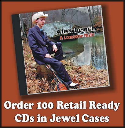 100 Retail Ready CDs in Jewel Cases with poly wrap