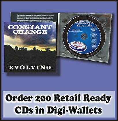 200 Retail Ready CDs in full color DIGI-WALLETS