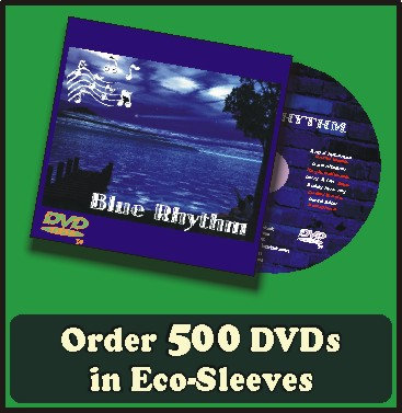 500 DVDs in full color sleeves with UV