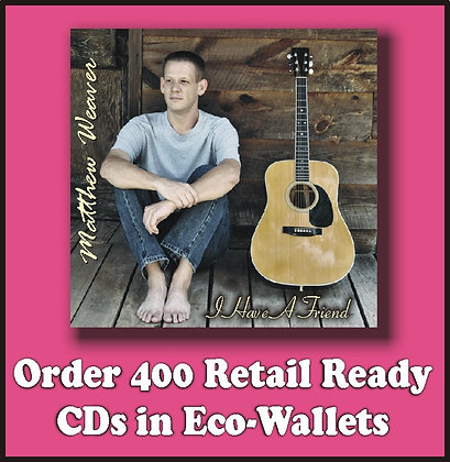 400 Retail Ready CDs in Full Color Eco-Wallets