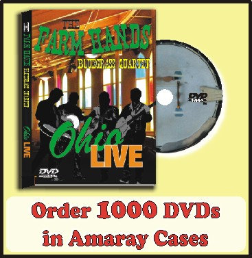 1000 DVDs in Amaray Cases Full color disc included