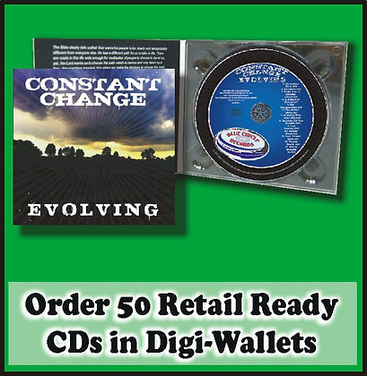 50 Retail Ready CDs in full color Digi-Wallets