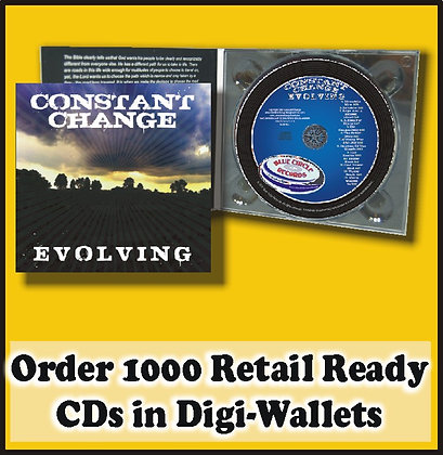 1000 Retail Ready CDs in full color DIGI-WALLETS