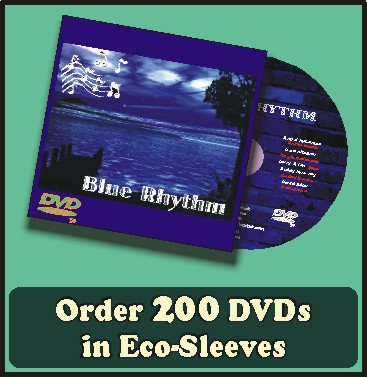 200 DVDs in full color sleeves with UV