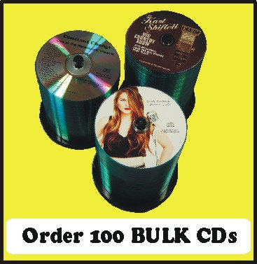 100 BULK CDs  Choose single color or full color