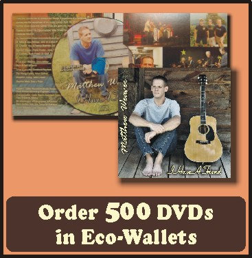 500 Retail Ready DVDs in Eco-Wallets
