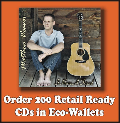 200 Retail Ready CDs in Full Color Eco-Wallets