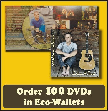 100 Retail Ready DVDs in Eco-Wallets