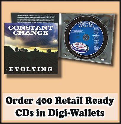 400 Retail Ready CDs in full color DIGI-WALLETS