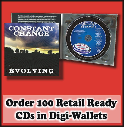 100 Retail Ready CDs in full color Digi-Wallets