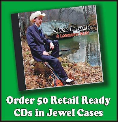 50 Retail Ready CDs in Jewel Cases w/poly wrap