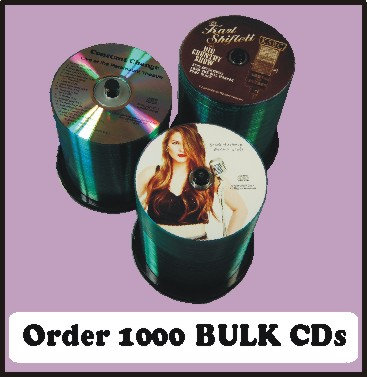 1000 BULK CDs  Choose single color or full color