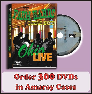 300 DVDs in Amaray Cases Full color discs included