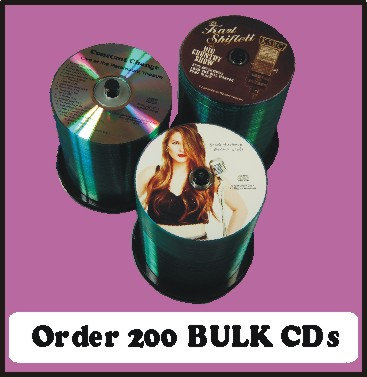 200 BULK CDs  Choose single color or full color