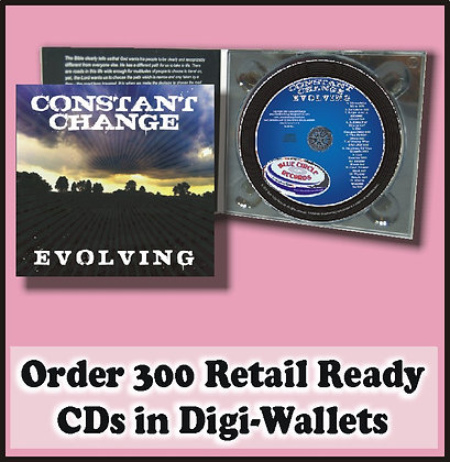 300 Retail Ready CDs in full color DIGI-WALLETS