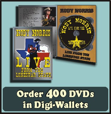 400 Retail Ready DVDs in full color Digi-Wallet