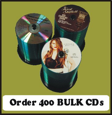 400 BULK CDs  Choose single color or full color