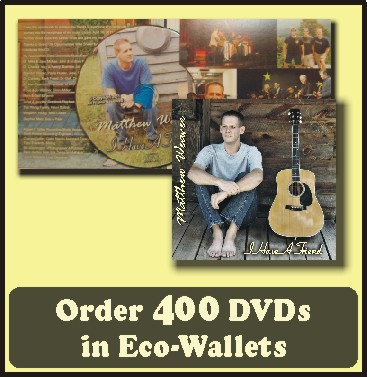 400 Retail Ready DVDs in Eco-Wallets