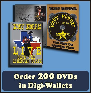200 Retail Ready DVDs in full color Digi-Wallets