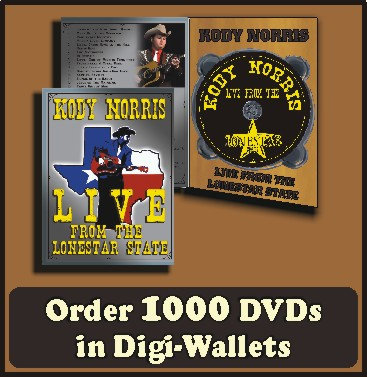 1000 Retail Ready DVDs in full color Digi-Wallet