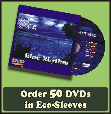 50 DVDs in full color sleeves with UV coating