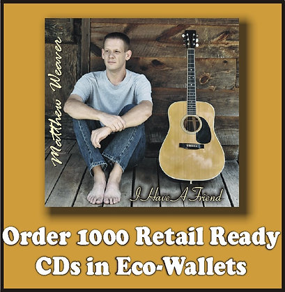 1000 Retail Ready CDs in Full Color Eco-Wallets