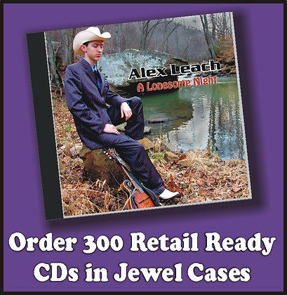 300 Retail Ready CDs in Jewel Cases w/poly wrap
