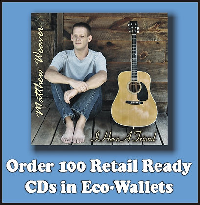 100 Retail Ready CDs in Full Color Eco-Wallets