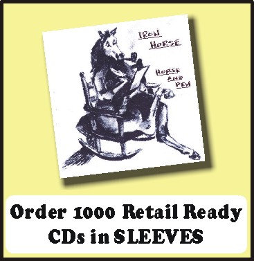 1000 Retail Ready CDs in full color SLEEVES