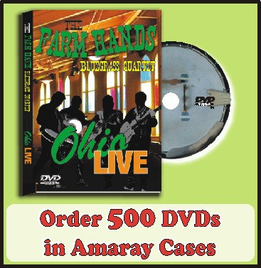 500 DVDs in Amaray Cases Full color discs included