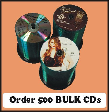 500 BULK CDs  Choose single color or full color
